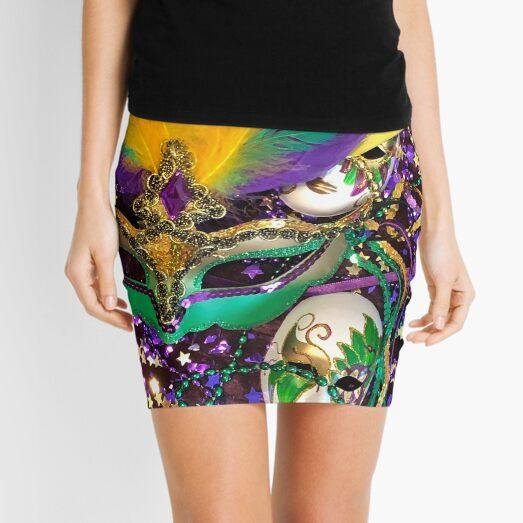 Mardi Gras  V Mini Skirt