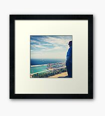 Looking Out on the Mediterranean Framed Print