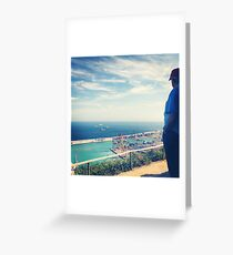 Looking Out on the Mediterranean Greeting Card