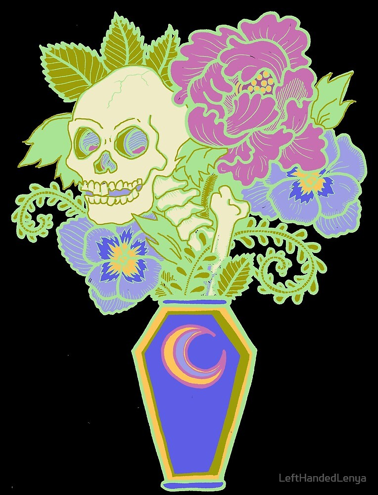 Bouquet Decay - Memento Mori (colored version) by LeftHandedLenya