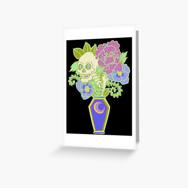 Bouquet Decay - Memento Mori (colored version) Greeting Card