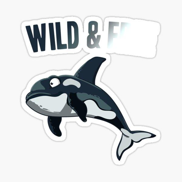 WickedGoodz Vinyl Orca Whale Decal Perfect Ocean Gift Beach Bumper Sticker