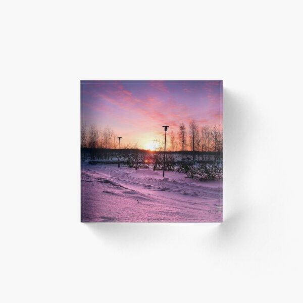 winter sunrise Acrylic Block