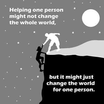 Helping One Person Might Not Change The World by AMagicalJourney