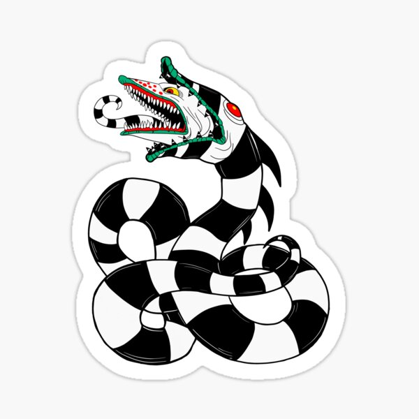 Beetlejuice Sandworm Stickers Redbubble