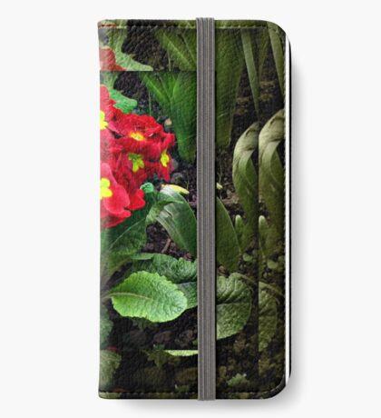 Gespiegelte Primel iPhone Flip-Case
