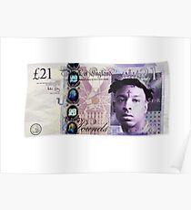 21 Savage 21 Pfund UK Poster