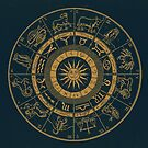 Vintage Zodiac & Astrology Chart | Royal Blue & Gold by Daniel Watts