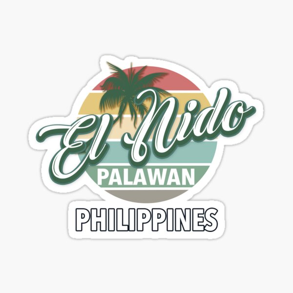 El Nido Palawan Philippines Beach and Paradise Colorful Sticker