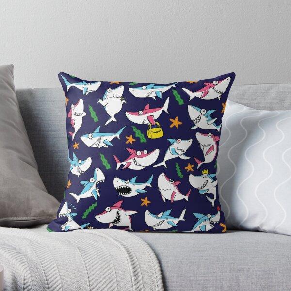 SHARK ATTACK! DOO DOO DOO! Throw Pillow