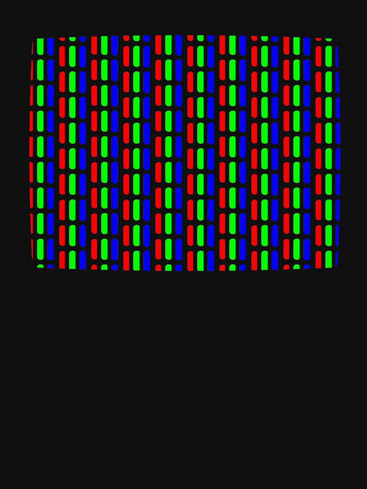Cromaclear slot-mask CRT pattern by Fuzzclone