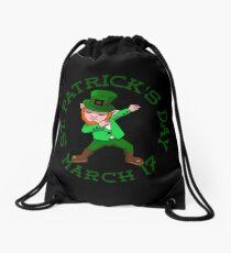 redhead dabbing leprechaun Drawstring Bag