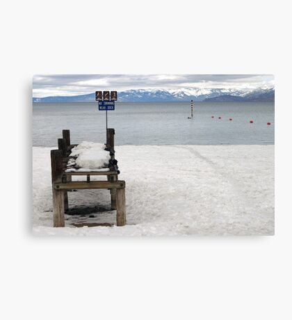 No Swimming? Canvas Print