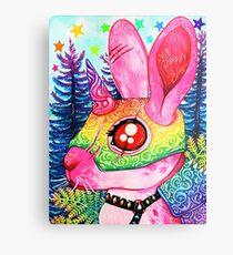 Armored Bunny Metal Print