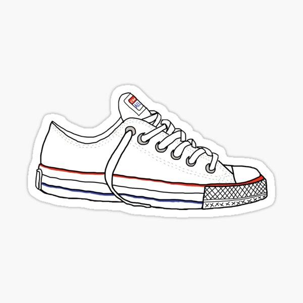 Baskets Converse blanches Sticker