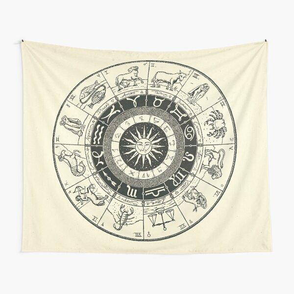 Vintage Zodiac & Astrology Chart  Tapestry
