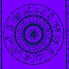Vintage Zodiac & Astrology Chart | In Nightshade Purple by Daniel Watts