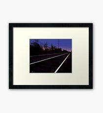 Walking on the Tracks Framed Print