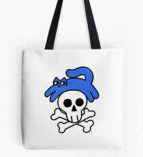 Cat And Skull And Crossbones Tote Bag