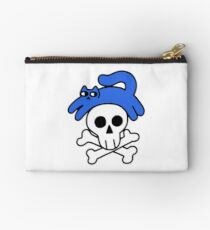 Cat And Skull And Crossbones Zipper Pouch
