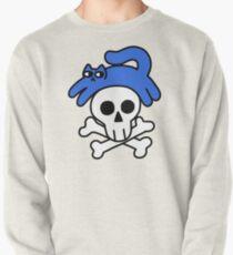 Cat And Skull And Crossbones Pullover Sweatshirt