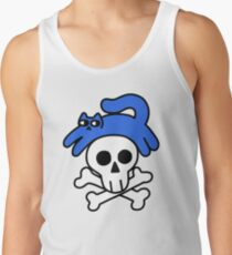 Cat And Skull And Crossbones Tank Top
