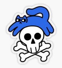 Cat And Skull And Crossbones Transparent Sticker