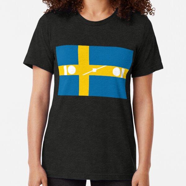 Swedish Brick Flag Silhouette Tri-blend T-Shirt