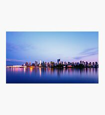 Vancouver City Skyline at Dusk Photographic Print