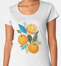 Lady Orange Women's Premium T-Shirt