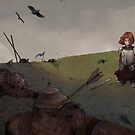 Girl-Knight: After the Battle by JGVart