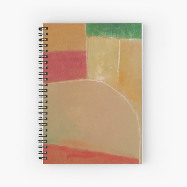 Autumn Fields Near Berry (Abstracted) Spiral Notebook