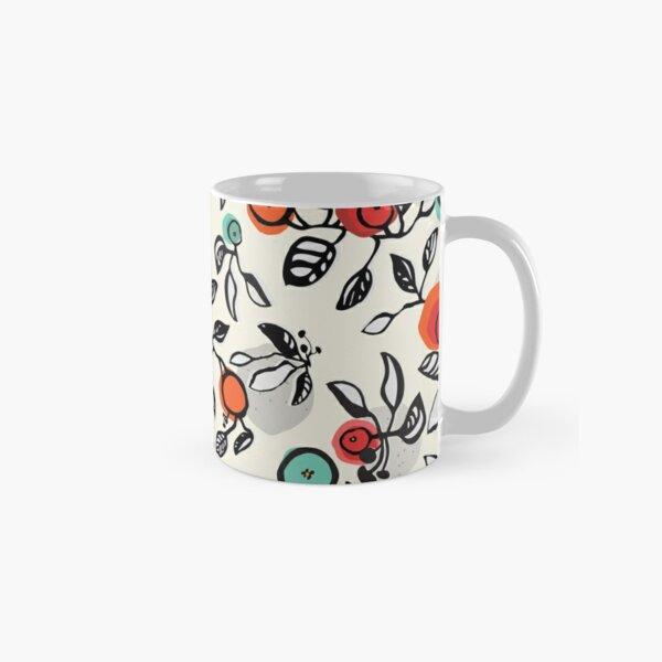 Sketchy Abstract Leaves Classic Mug