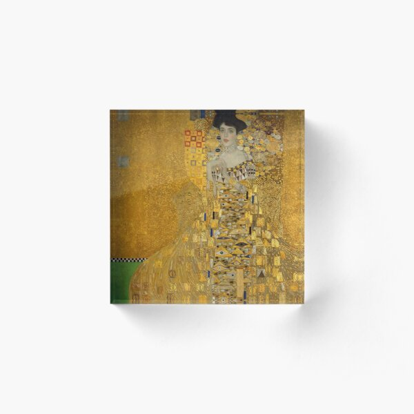 Adele Bloch-bauer I by Gustav Klimt Acrylic Block