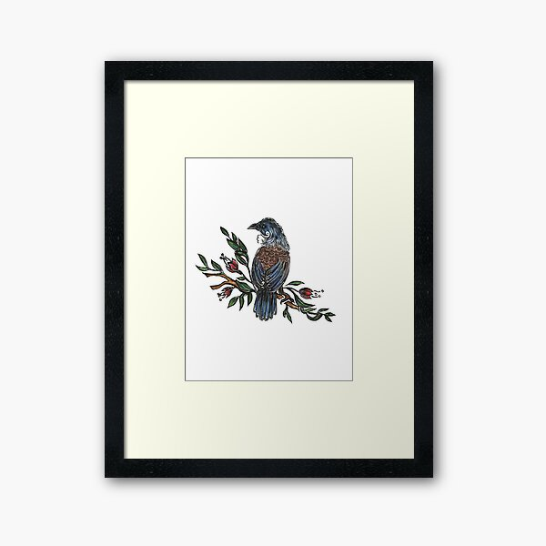 Tui Bird Framed Art Print