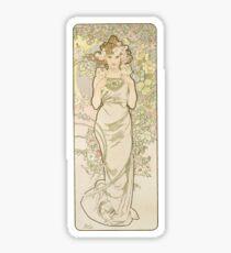 Pegatina La serie de flores de Alphonse Mucha