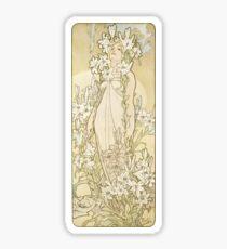 Pegatina Lily - La serie de flores - Alphonse Mucha