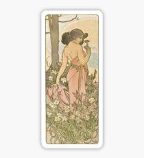 Pegatina La serie de flores - Alphonse Mucha