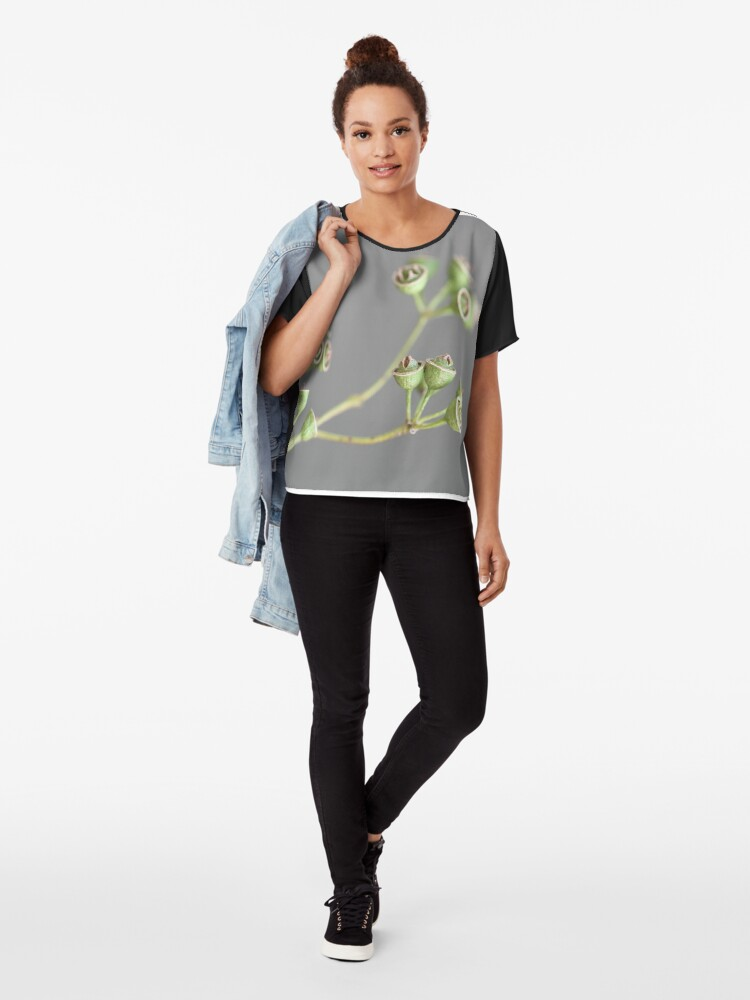 Alternate view of graceful pods Chiffon Top