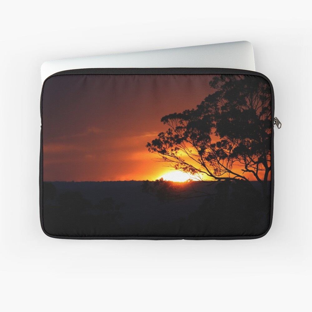 Hügels Sonnenuntergang Laptoptasche