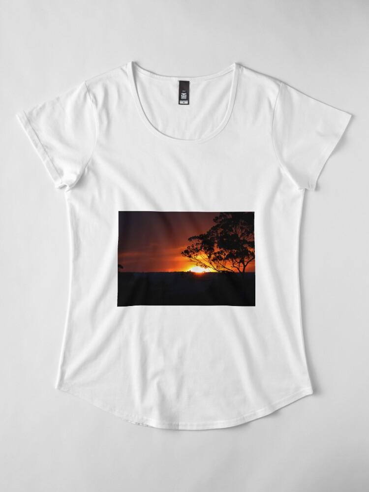 Alternative Ansicht von Hügels Sonnenuntergang Premium Rundhals-Shirt