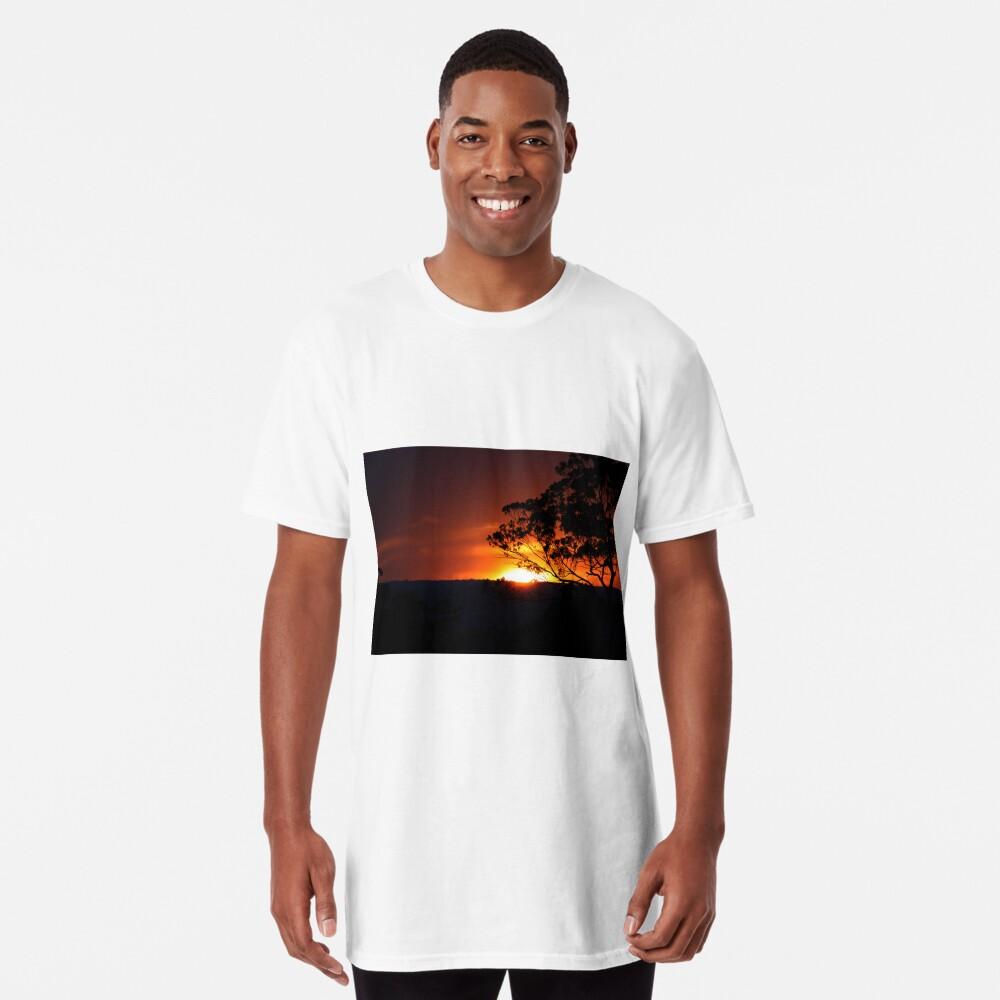 Hügels Sonnenuntergang Longshirt