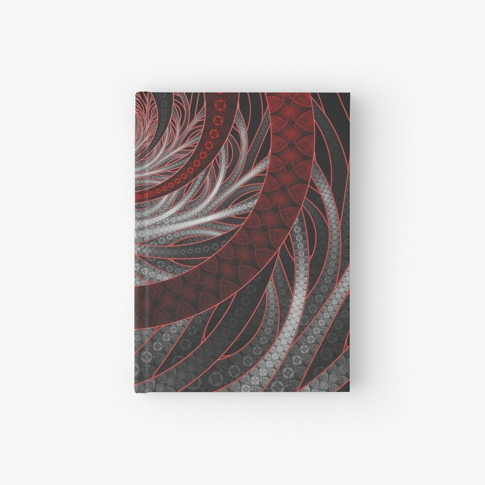 Corded Crimson Scales in the Eye of the Vampire Hardcover Journal