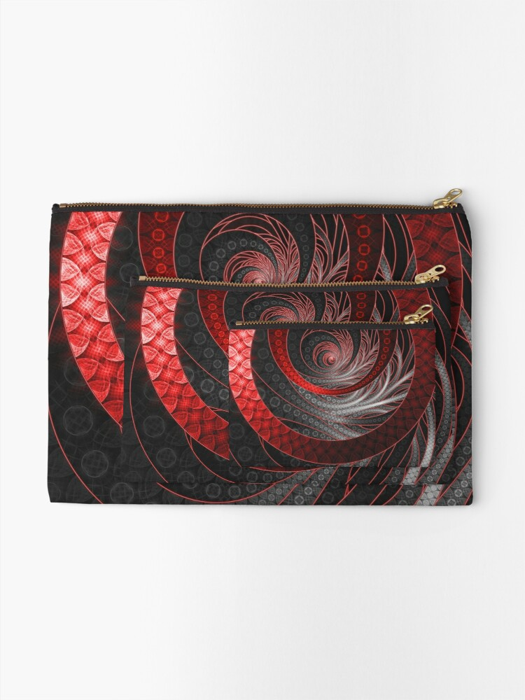Alternate view of Corded Crimson Scales in the Eye of the Vampire Zipper Pouch