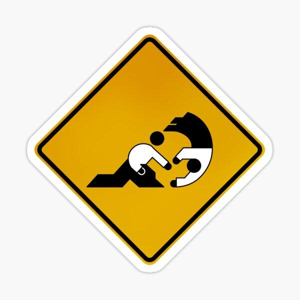 Akido - Warning Sign Sticker