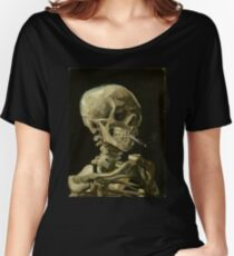 Vincent Van Gogh smoking skeleton Women's Relaxed Fit T-Shirt