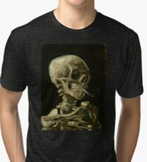 Vincent Van Gogh smoking skeleton Tri-blend T-Shirt