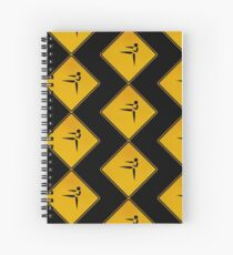 Karate - Warning Sign Spiral Notebook