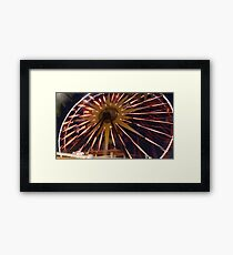 Fun Wheel Glow Framed Print