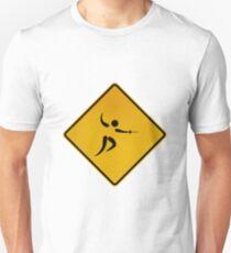 Camiseta unisex Esgrima - Señal de advertencia